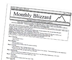 the monthly blizzard